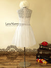Full Lace Back Knee Length Dress