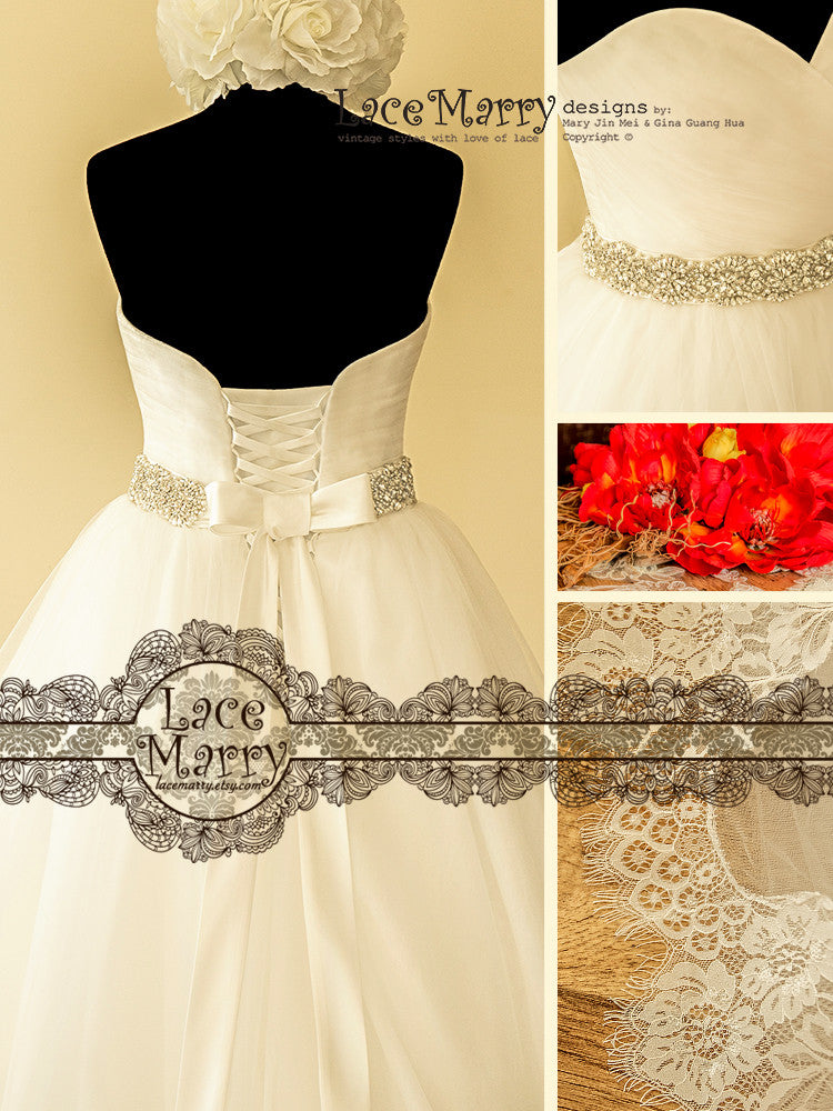 Ball Gown with Lace up Back