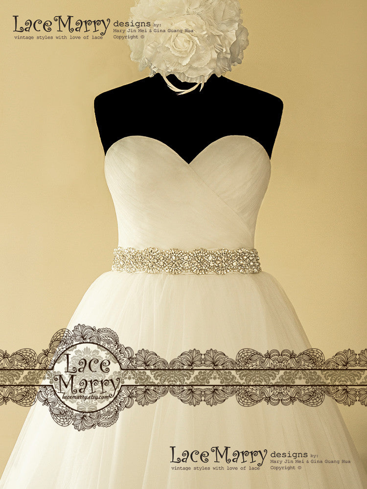 Stunning Ball Gown with Bridal Sash