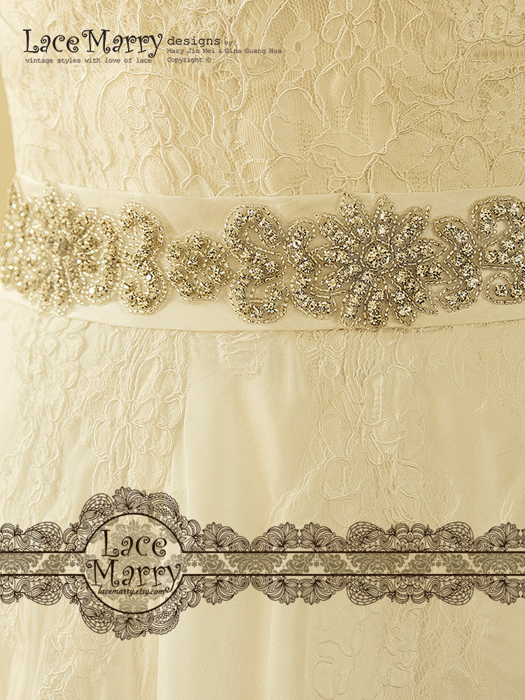 Beautiful Beaded Embelishment Bridal Sash