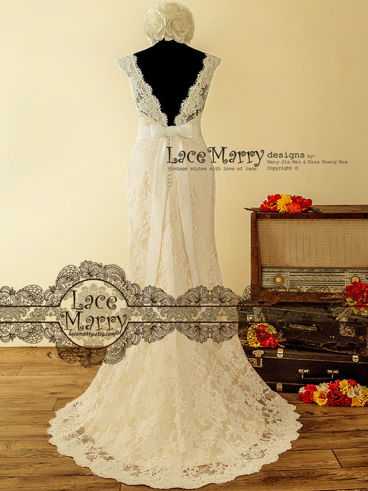 Slim A-Line Lace Wedding Dress