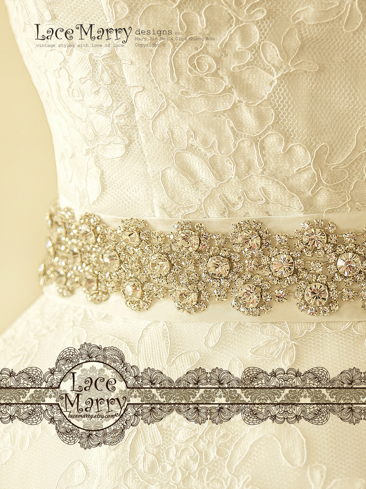Bridal Beaded Sash