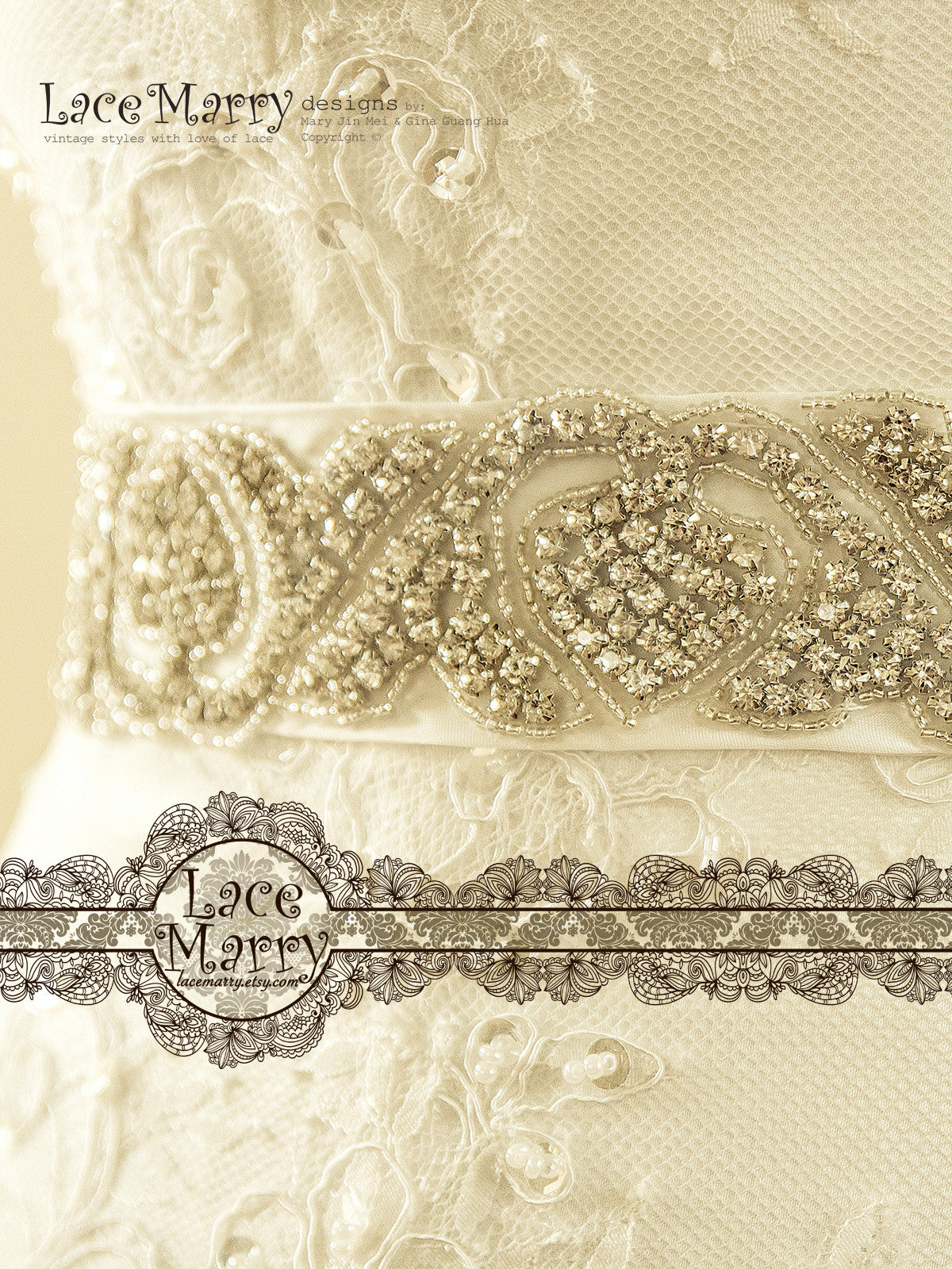 Detachable Bridal Beaded Belt