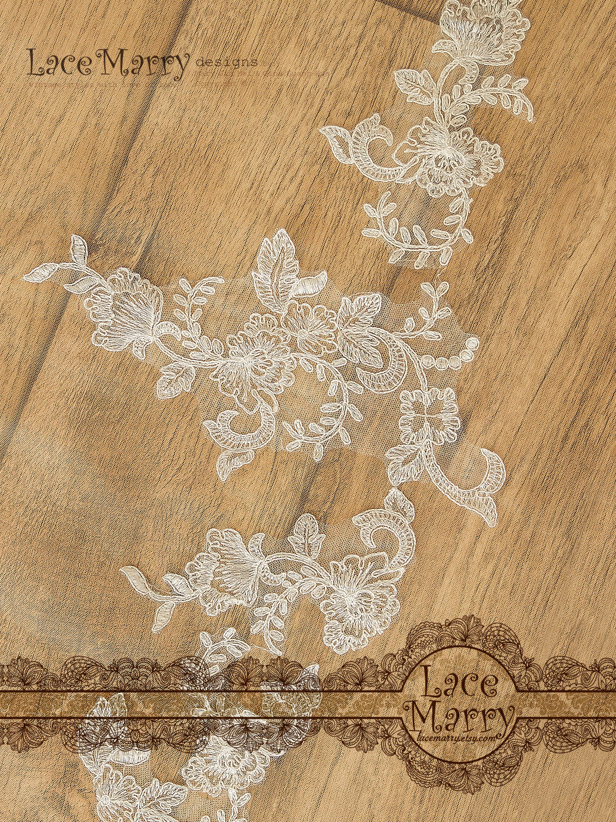 Delicate Alencon Lace Applique