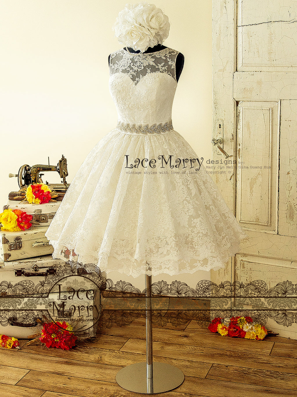 Short Wedding Dresses By Lacemarry Custom Made Just For You