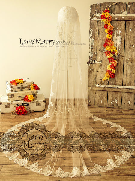 Cathedral Length Bridal Veil