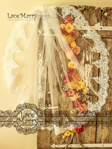 Drop Over Mantilla Bridal Veil