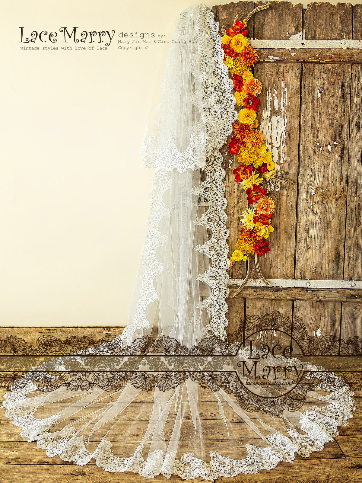 Double Layer Long Wedding Veil