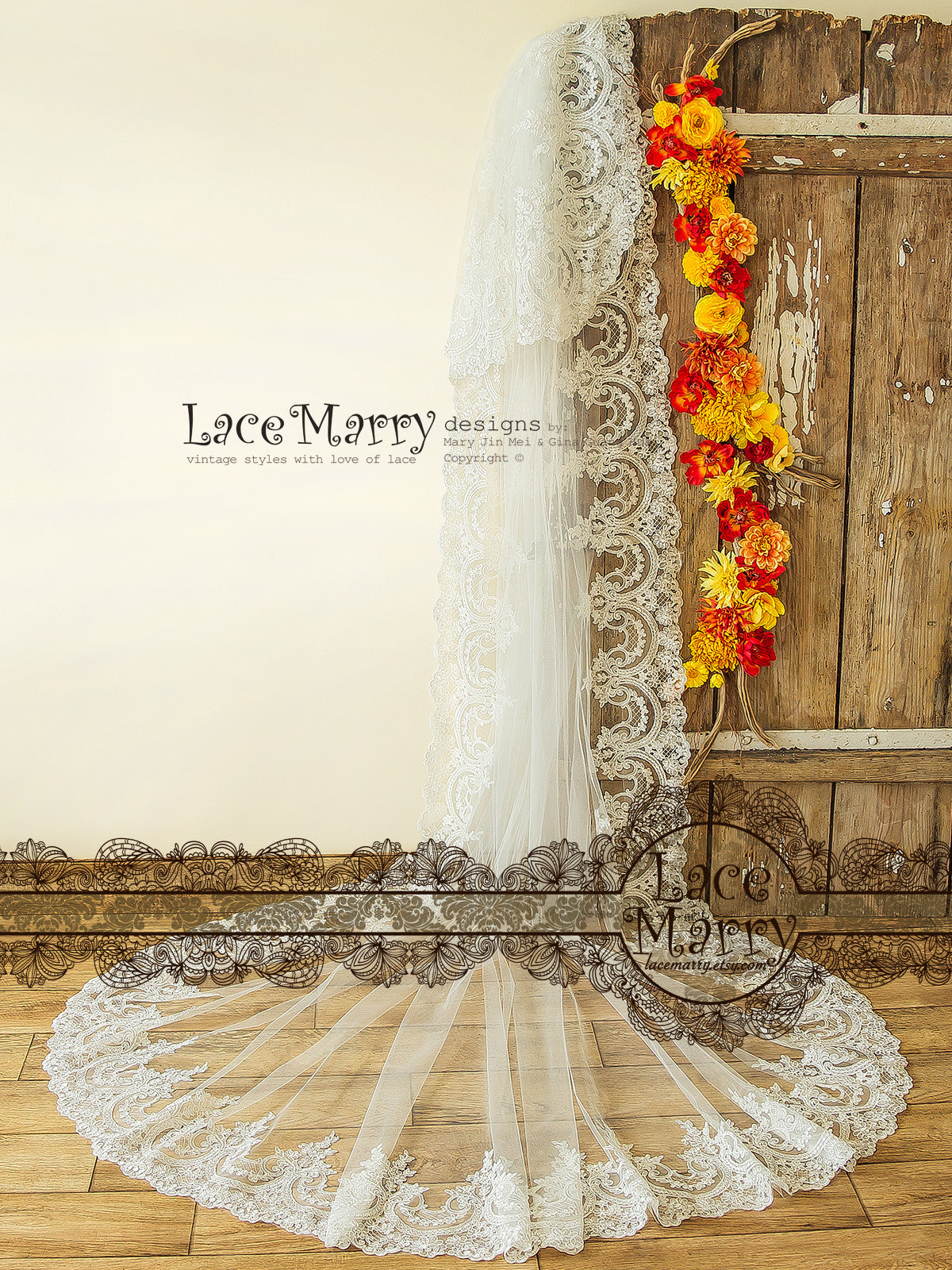 Two Tier Long Wedding Veil