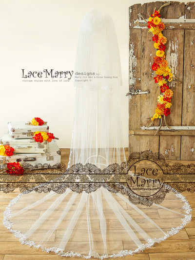 Alencone Lace Double Layer Bridal Veil