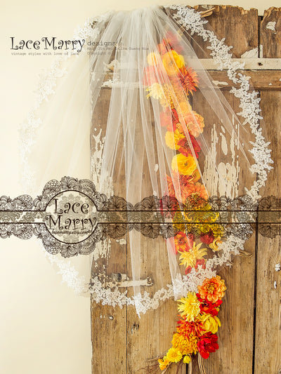 Tulle Bridal Veil in Waltz Length