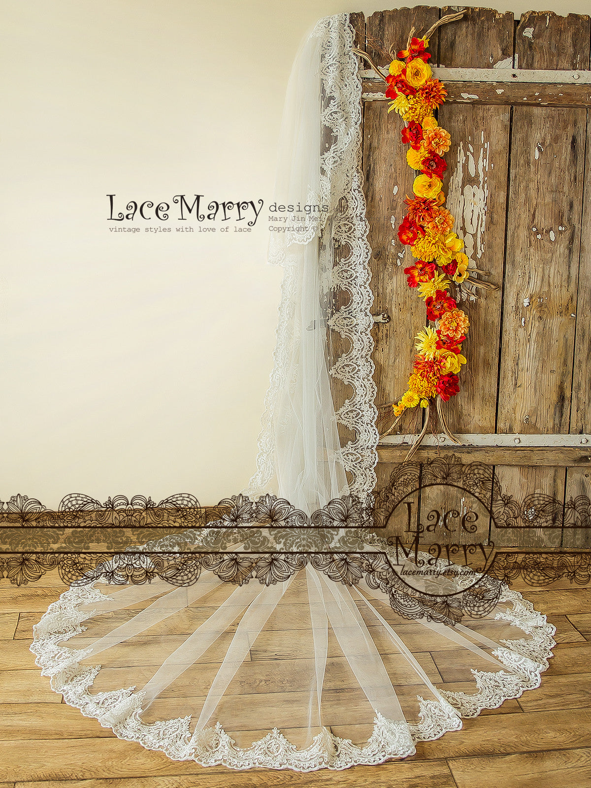 Double Tier Long Wedding Veil