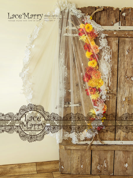 Lace Flower Bridal Veil