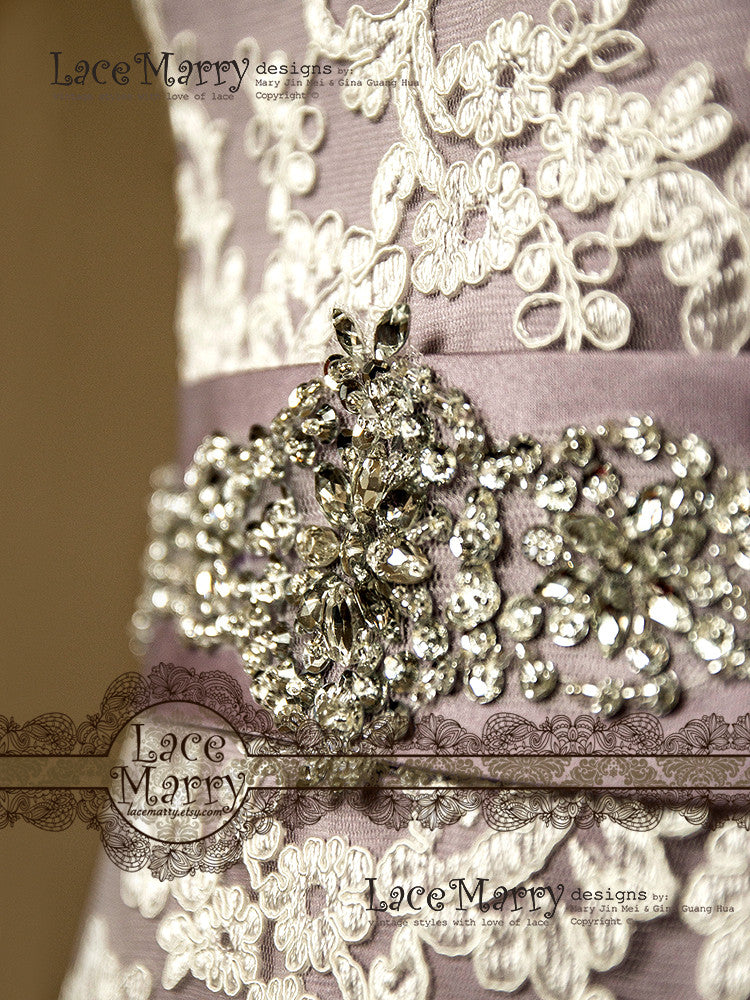 Handmade Wedding Dress Sash With Beading
