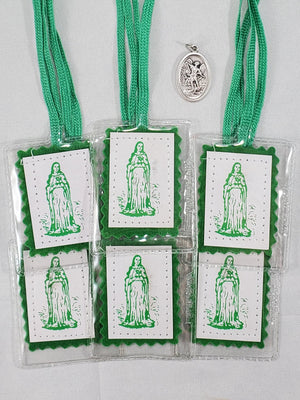 GREEN SCAPULAR PACKAGE for Cures and Conversions-package of 6