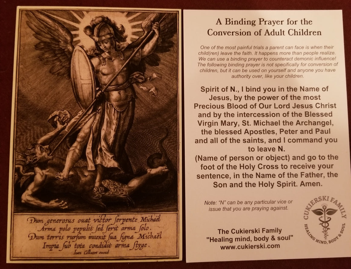 Prayer Card-Binding Prayer for Conversion of Adult Children
