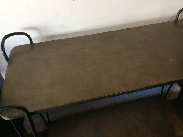 Iron trolley table