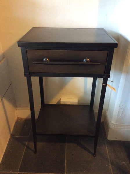 Metal cabinet with drawer