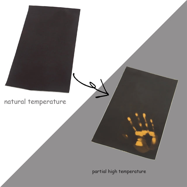 Heat Reactive Black to Yellow Sheet