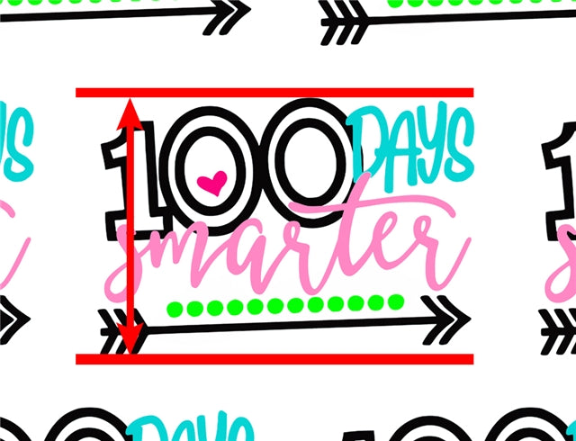 100 Days Smarter Faux Leather Sheet