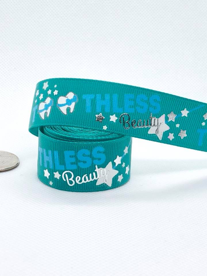 "7/8"" USDR Toothless Beauty Ribbon - Jade"