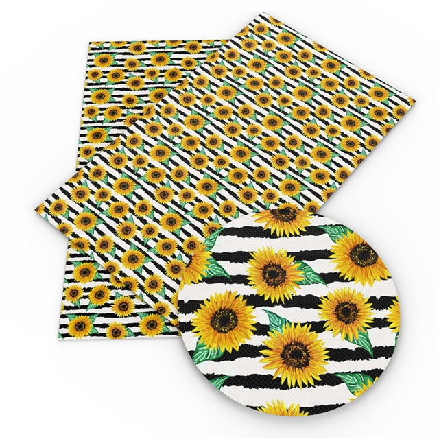 Sunflower Stripes Faux Leather Sheet