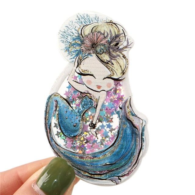 Shaker Resin - Watercolor Mermaid