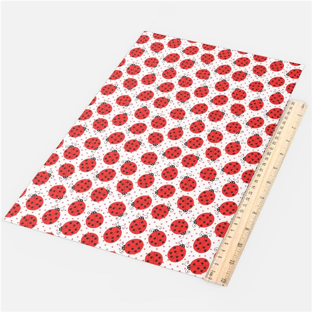 Lady Bugs and Dots Faux Leather Sheet