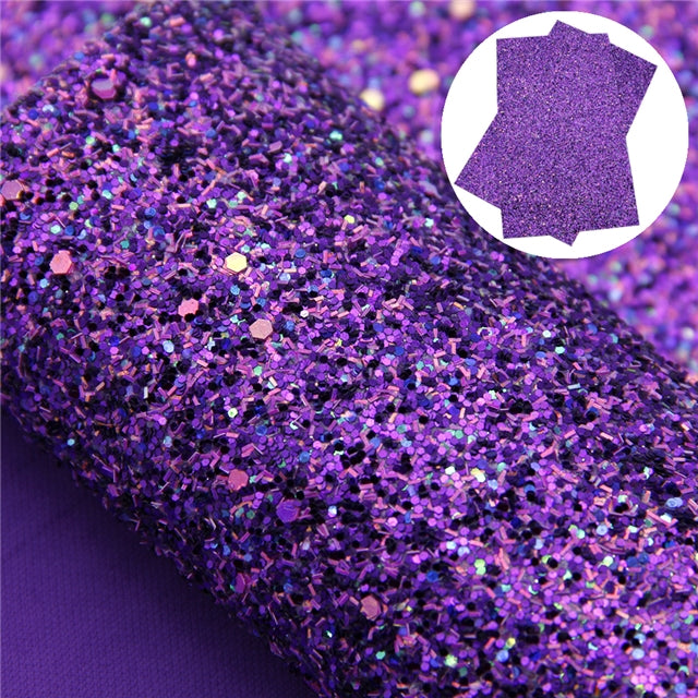 Iridescent Dark Purple Glitter Roll