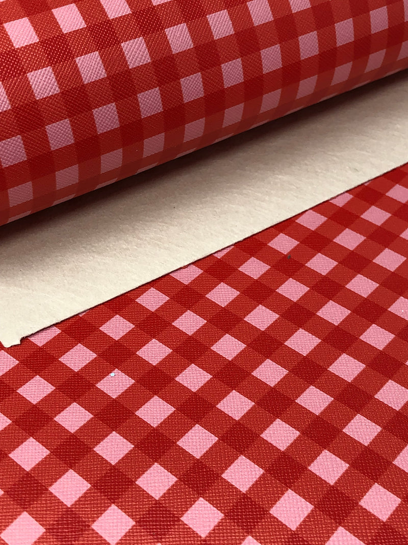 Pink and Red Gingham Sheet