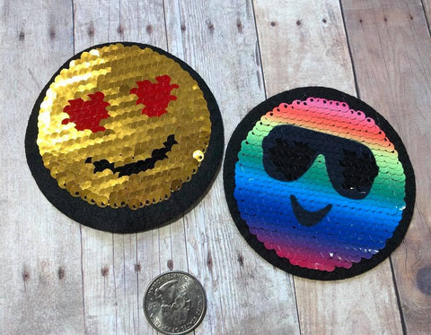 Mermaid Sequin Cool Emoji Patch