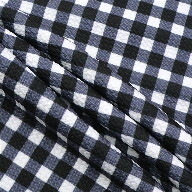 White Buffalo Plaid Bullet Liverpool Fabric - Half Yard
