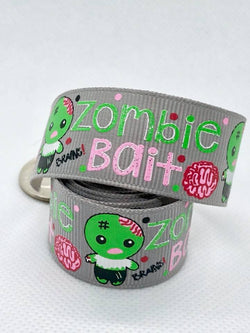 "7/8"" Zombie Bait Ribbon - Grey"