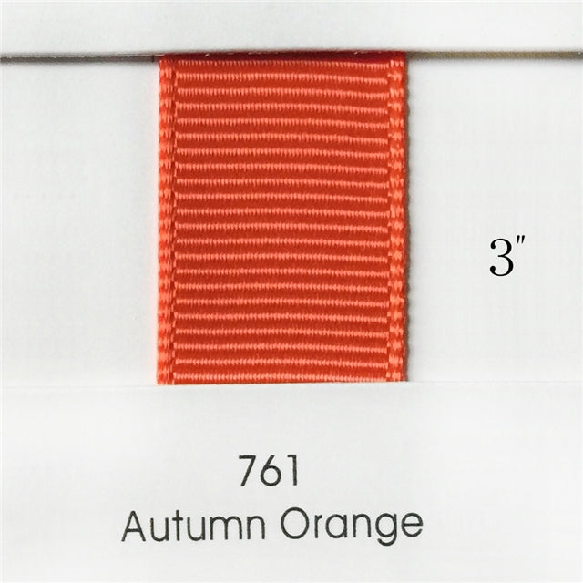 "3"" Solid Autumn Orange Ribbon"