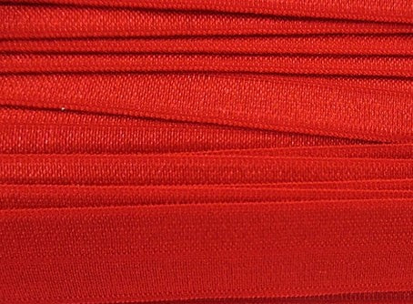 Solid Red Fold Over Elastic