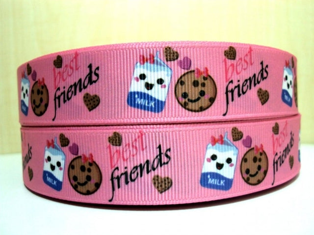 "7/8"" Milk and Cookies Ribbon"