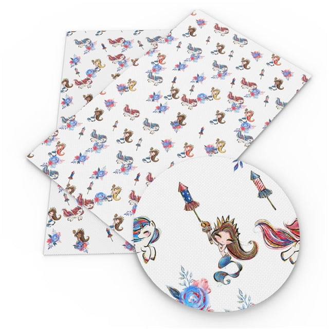 Patriotic Mermaids Sheet