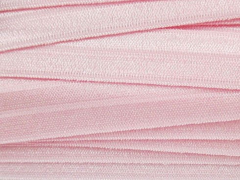 Solid Blush Fold Over Elastic