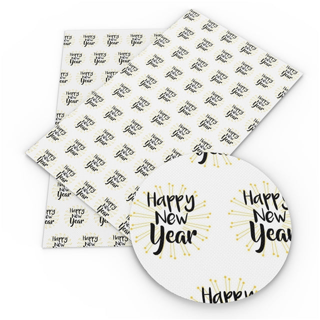 Superfine Glitter Happy New Year Sheet