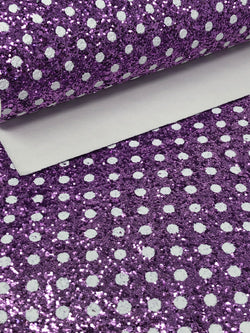 Purple Polka Dot Glitter Sheet
