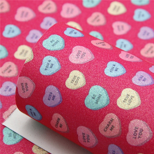 Superfine Glitter Conversation Hearts Sheet