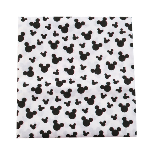 Mouse Head Poly/Cotton Blend Fabric - Half Yard