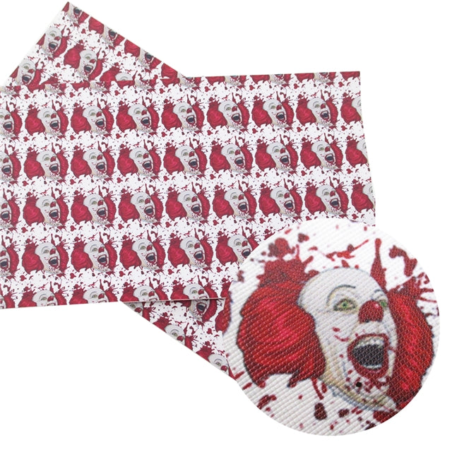 Bloody Pennywise Faux Leather Sheet