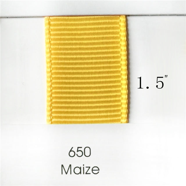 "1.5"" Solid Maize Ribbon"