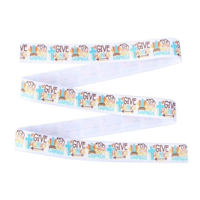 Little Miss Thankful Fold Over Elastic
