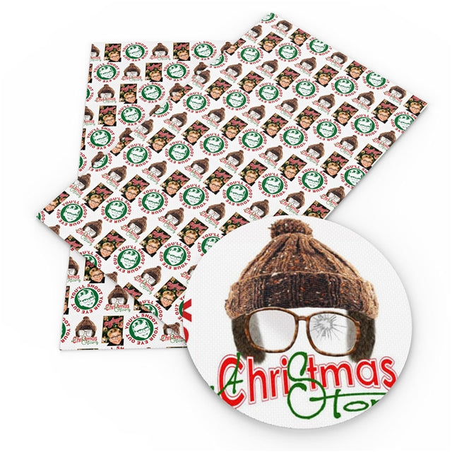 Christmas Story Faux Leather Sheet