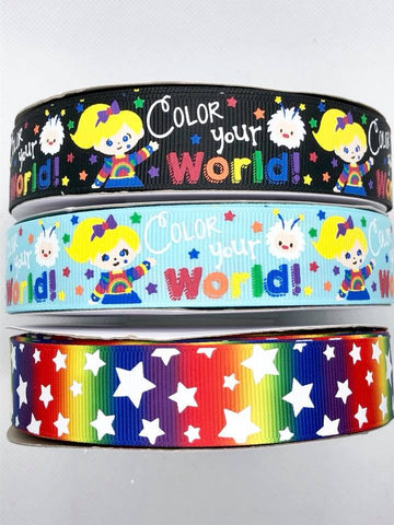 "7/8"" USDR Color Your World! Ribbon"