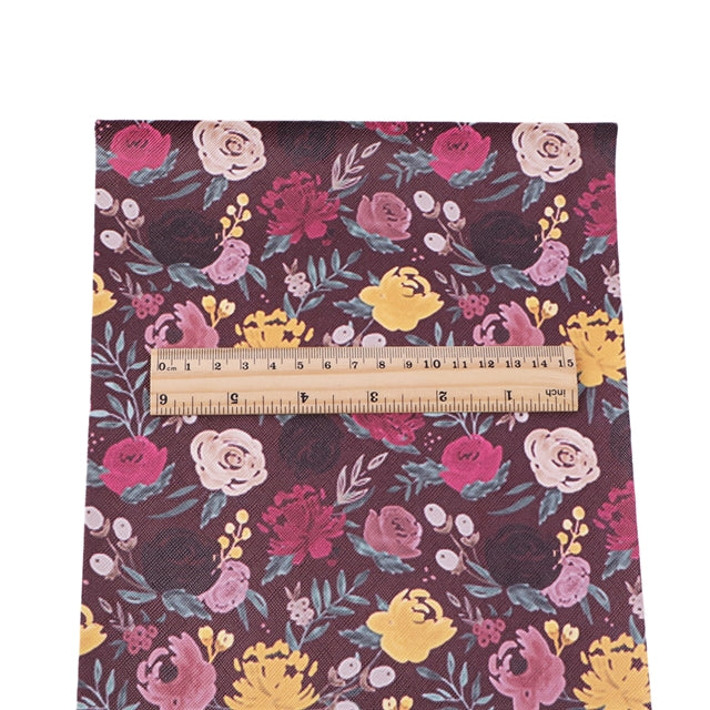 Dark Roses Faux Leather Sheet
