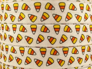 Candy Corn Fold Over Elastic