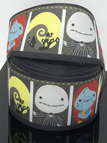 "3"" Jack and Sally Ribbon"